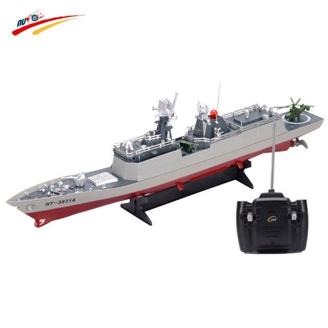 Barco DEL RC 1/275 de Radio Control Remoto Barco Acorazado barco de Guerra Militar RC Juguete Modelo de Barco de Guerra Electrónica