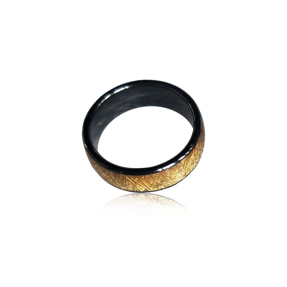 125 кГц или 13,56 МГц RFID керамическое умное Золотое кольцо на палец для мужчин и женщин