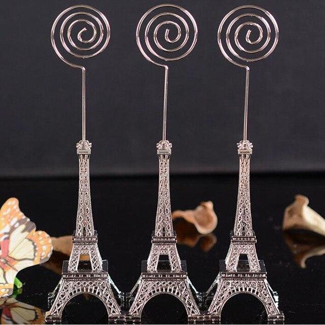 160pcs Romantic Paris Themed Eiffel Tower Table Place Card Holder