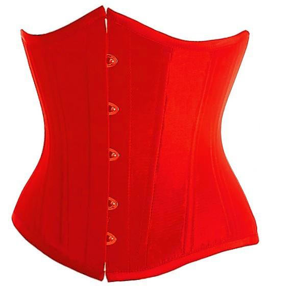 Red-Underbust-Corset-Plus-Size-Lingerie-Waist-Training-Corsets-For-Women-Top-Bustier-Push-Up-Waist-Cincher