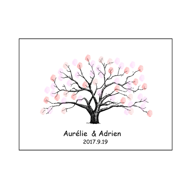 Sign In Party Supplies Fingerprint Tree For Birthday Party Wedding Gift  Party Decor Wedding Baby Shower