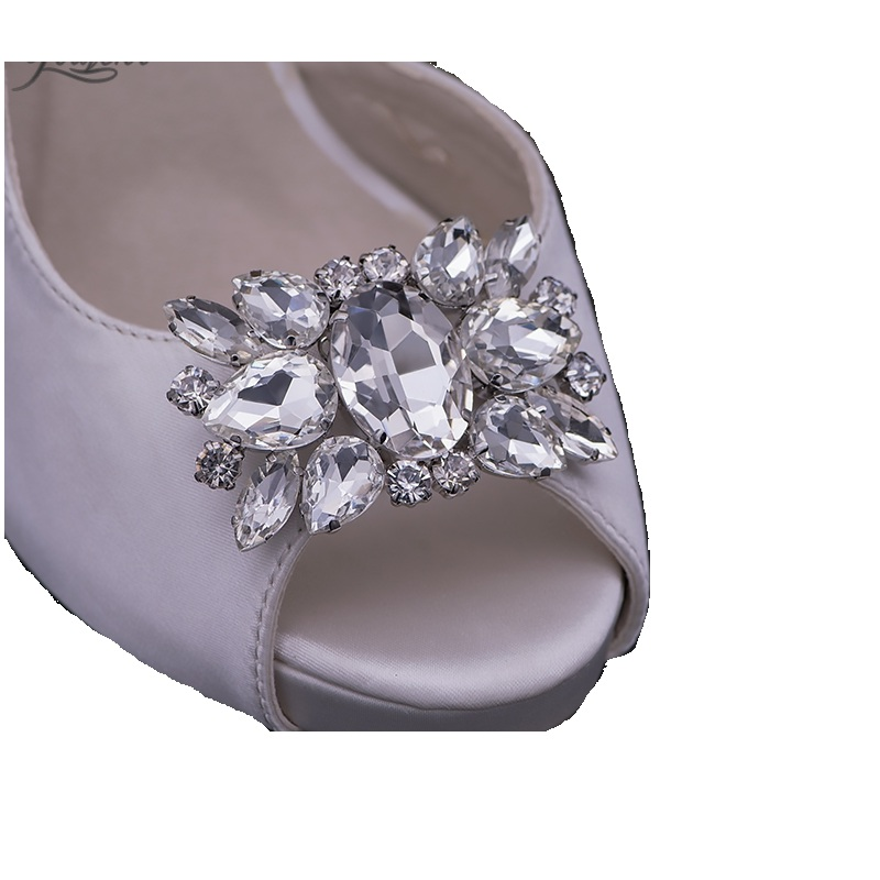 50pair Daily shoes flower charms bridal high-heel pumps accessories crystal diamond shoe clips Fashion wedding decoration buckle 2pcs one pair shoes flower charms daily shoes high heel pumps fashion bag crystal diamond shoe clips wedding decoration buckle