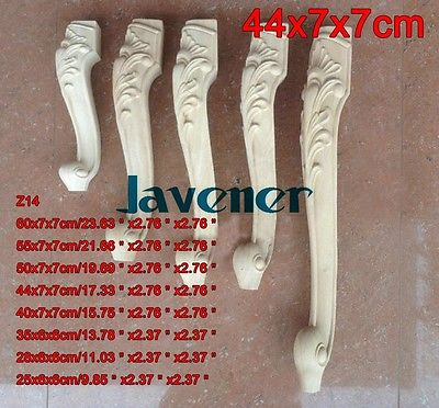 Z14 -44x7x7cm Wood Carved Onlay Applique Carpenter Decal Wood Working Carpenter Leg Flower