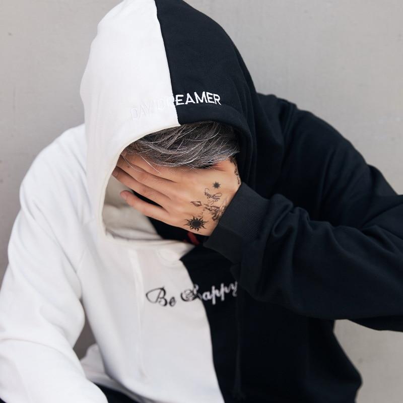 Erkek Kıyafeti'ten Kapşonlu ve Kapşonsuz Svetşörtler'de Dropshipping Tedarikçiler Abd Erkekler Hoodies Tişörtü Gülümseme Baskı Şapkalar Hoodie Hip Hop Streetwear Giyim Abd boyutu S XL'da  Grup 3