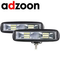 ADZOON New 60W 12V LED Work Light Bar Flood Lamp Driving Fog Offroad LED Work Car Light for Ford Toyota SUV 4WD led beams