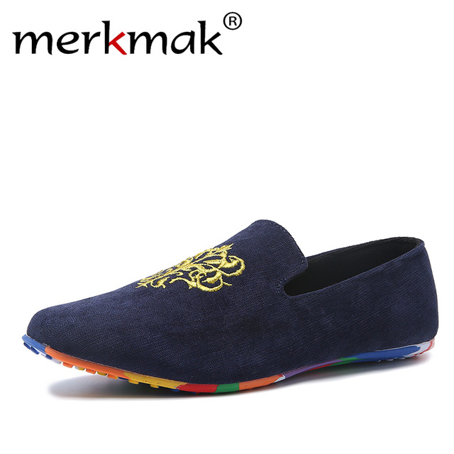 Men's Oversized Loafers Non-slip Driving Shoes Slip-ons Manual Men's Shoes