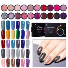 LEMOOC 5ml 6Pcs/Lot  Gel Paint UV Nail Soak Off Art Led Lacquer Glitter Sequins Painting nail Polish