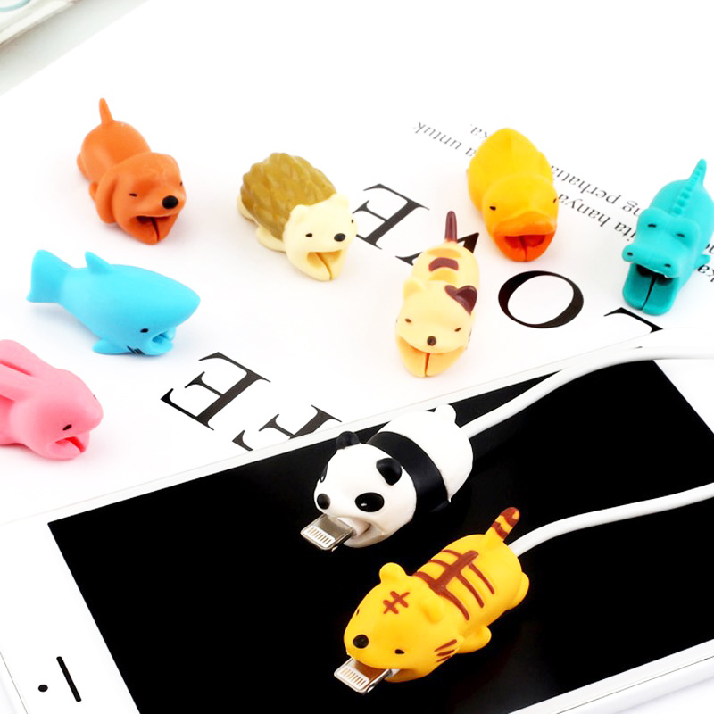 FFFAS Animal Cable Bite Protector Winder Cute Cartoon Cover Protect Case Wire Organizer Holder For IPhone FFFAS Animal Cable Bite Protector Winder Cute Cartoon Cover Protect Case Wire Organizer Holder For IPhone 7 8 X Plus Earphone