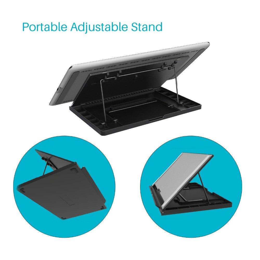 HUION KAMVAS Pro 12 GT-116 tablette numérique Batterie-stylo gratuit Affichage tablette de dessin Moniteur avec Fonction D'inclinaison AG Tactile En Verre Bar - 4