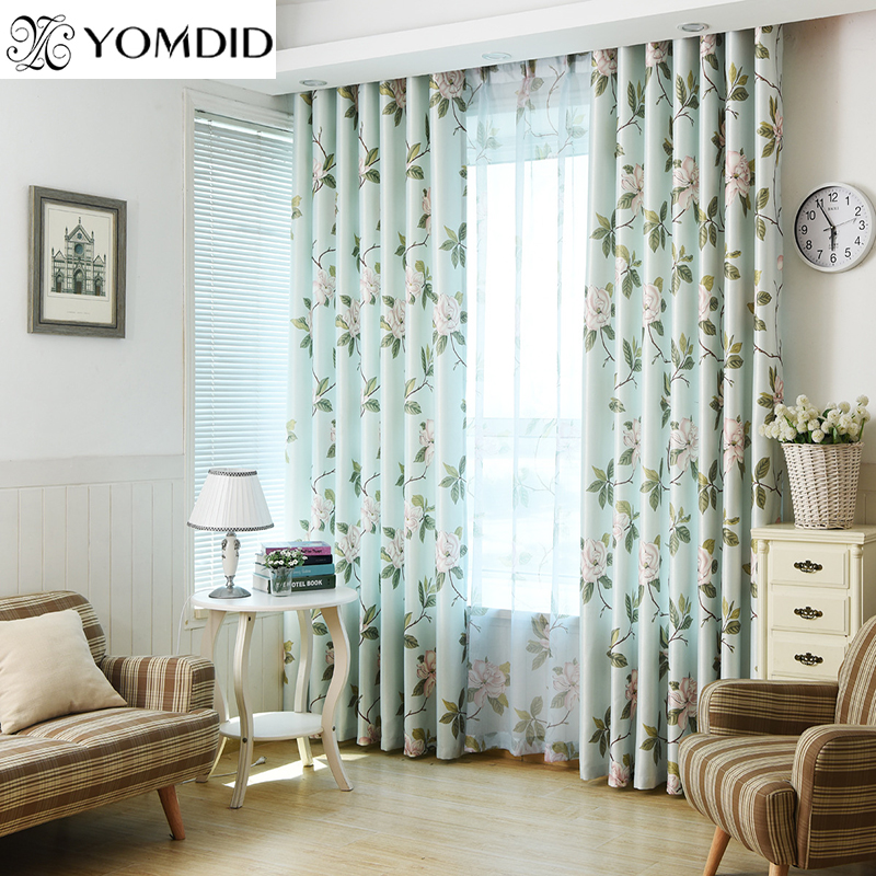 Fashion Stripe Rustic Curtain Yarn Bedroom Living Room: American Style Pastoral Curtains For The Living Room