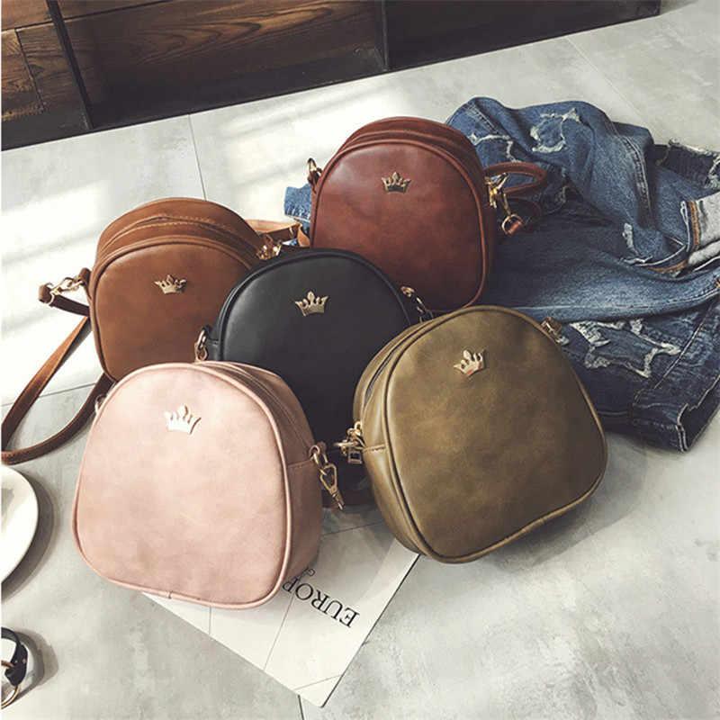 2019 bolso de mano de mujer de moda bolsos de mensajero de cuero de PU bolso de hombro de señora bandolera Mini bolso femenino corona bolsos de noche J5