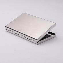 RFID Sperrung Karte Abdeckung Edelstahl Silber Aluminium Metall Visitenkarte Fall Business ID & Kreditkarte Halter Box