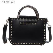 Women Rivet Bag Famous Brand Leather Handbags Designer Ladies Shoulder Bags Small Crossbody Bags For Women Punk Bolsa Feminina