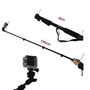 Image 2 - Yunteng 188 Selfie bâton monopode pour caméra téléphone Monopd gopro Hero3 +/3/2/1 noir
