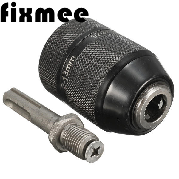 """2-13mm Heavy Duty 1//2/"""" 20 UNF Quick Change Keyless Drill Chuck with SDS Adaptor"""