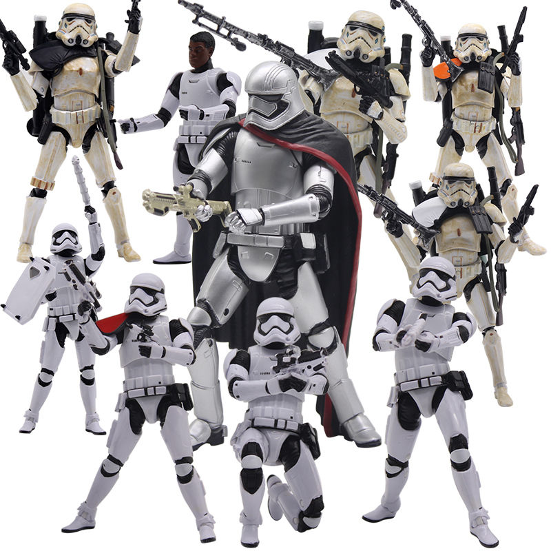 6 inch Star Wars Action Figure Stormtrooper First order Riot Control Black Series Captain Elite Praetorian Guard Model Toy Gift star wars taiko yaku stormtrooper 1 8 scale painted variant stormtrooper pvc action figure collectible model toy 17cm kt3256