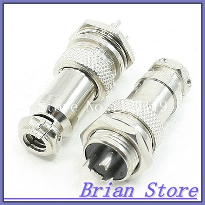 2 x Industrial Aviation Plugs Male Female Connectors 3Pin for 16mm Panel Hole 106171 2030[fiber optic connectors bsc back panel adapt k pa mr li