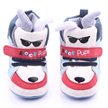 Fashional Cool Dog with Sunglasses Pattern Baby Boy Comfortable Toddler Sports Shoes 0-12M