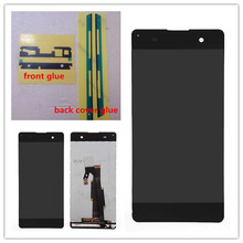 5.0 '' White or Black For Sony Xperia XA F3111 F3113 F3115 LCD display Touch Screen Digitizer full Assembly replacement parts 4 6 white or black for sony xperia z3 mini compact d5803 d5833 lcd display touch digitizer screen assembly sticker