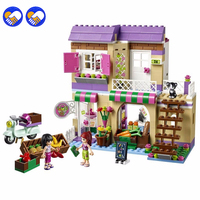 A toy A dream 2016 NEW Bela 10495 Friends Heartlake city Food Market Building Blocks Girl Mia Maya Gift Toy