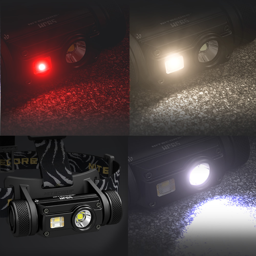 Nitecore HC65 18650 rechargeable LED Headlamp CREE U2 1000LM Triple Output Ourdoor Headlight Waterproof Flashlight Free Shipping 2