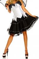White shapers Sexy Women Corset Bustier Plus Size Push up Gothic Corset Dress with Skirt