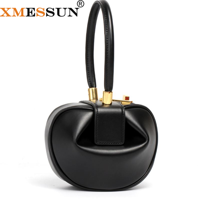 Round Bag Women Genuine Leather Evening Party Totes Bag 2018 New Vitnage Brand Handbags Black Brown Beige White Drop Shipping