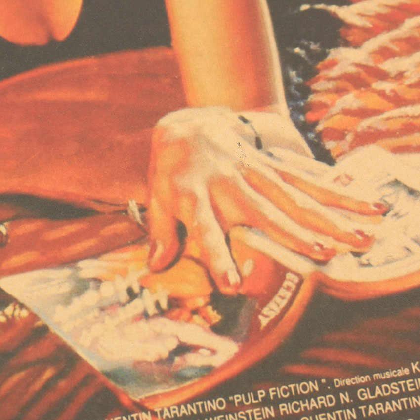 TIE LER Pulp Fiction Retro Nostalgia Classic Old Movie Poster Kraft Paper Wall Sticker