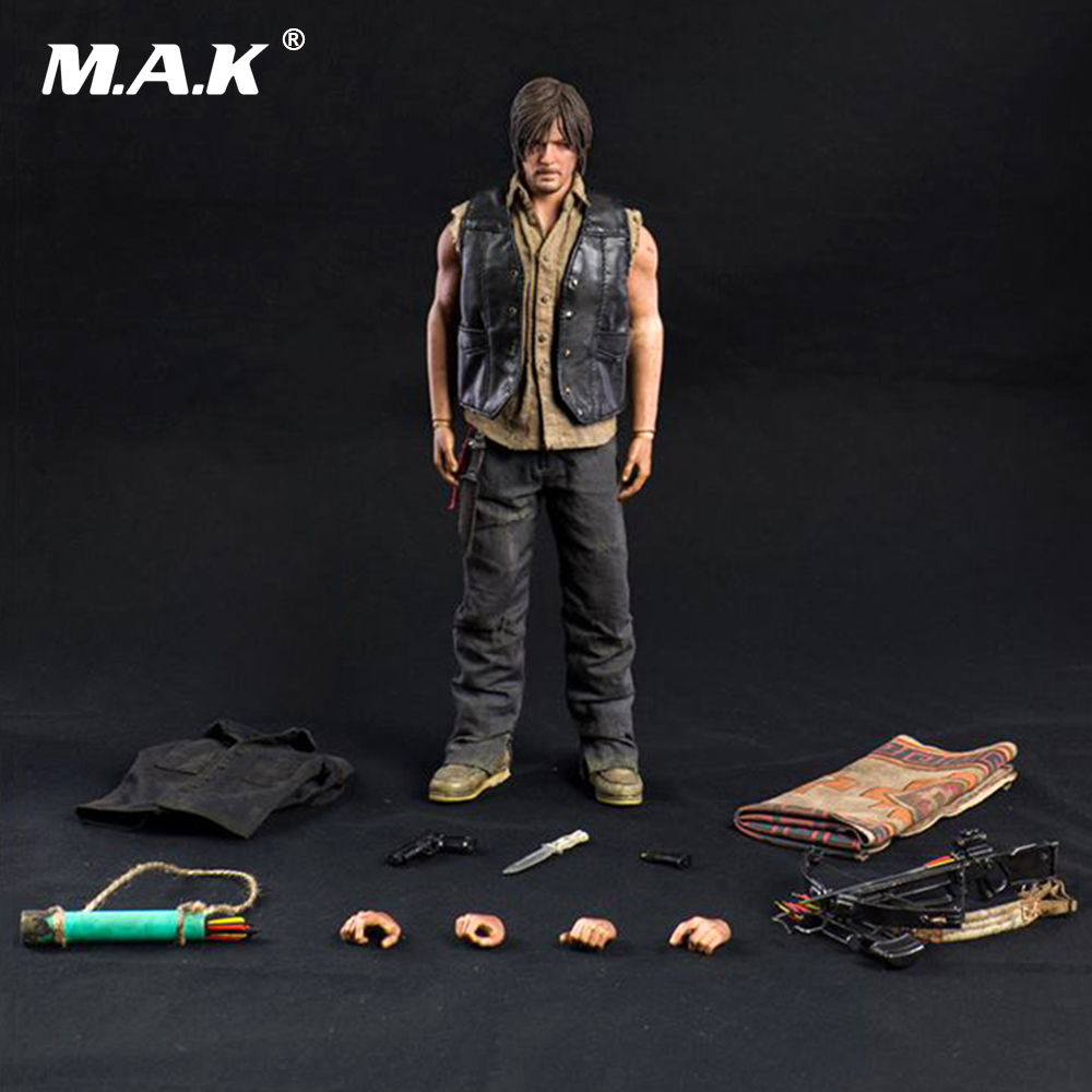 1/6 Scale Figure Movie The Walking Dead Daryl Dixon Full Set Action Figure set with the Weapons and hands 1 6 scale full set soldier the lord of the rings elven prince legolas action figure toys model for collections