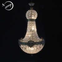 Europe Retro Vintage Charming Royal Empire Style Big Led Crystal Modern Chandelier Lamp Lustres Lights E14 For Hotel Living Room