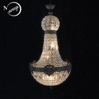 Ретро Винтаж Очаровательная Королевская империя Стиль Большой светодиодный кристалл Современная люстра Lustres Lights E14 для Гостиничной церкви