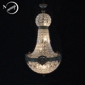 Image 1 - Europe Retro Vintage Charming Royal Empire Style Big Led Crystal Modern Chandelier Lamp Lustres Lights E14 For Hotel Living Room