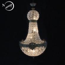 Lámpara de araña de cristal Led grande estilo imperio real, Retro, Vintage, Europeo, encantador, E14, para Hotel y sala de estar