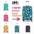 Милые Рыбы тележки для багажа охватывает женщин Животных Печатные багажа защитные чехлы водонепроницаемый Стильный Прозрачный чемодан крышка для девочки