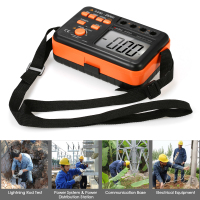 RuoShui 200V Digital Earth Resistance Tester Ground Meter 2000ohm Voltmeter Ohmmeter w/LCD Backlight Display