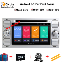 IPS HD Android 8.1 Car dvd for Ford focus Mondeo S max smax c max with 2G RAM 16G ROM radio gps media player 1024*600 navigation