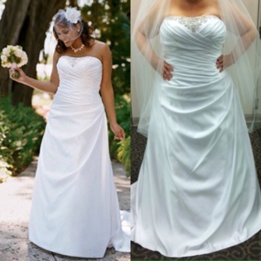 Hotsale plus size wedding dress 2017 strapless satin Ruched Ivory vestiti  da sposa bianco robe de soiree longue manche longue 533fa2a43b0e