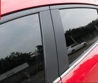 10pcs for Mazda 3 Axela 2014 2017 center column Sticker carbon fibre Decorative sticker