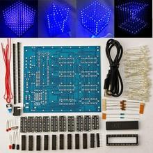 8 × 8 × 8 LED キューブ 3D ライトスクエアブルー LED 電子 DIY キットモジュール
