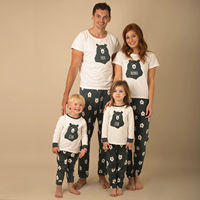 PUDCOCO Newest Hot New Christmas Striped Pyjamas Matching Family PJs T Shirt Long Pants Casual Nightwear