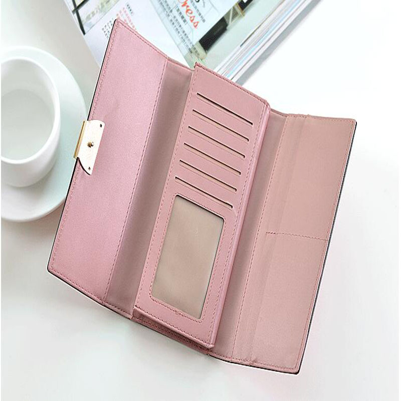Itapkris Fashion Female Leather Long Wallet Women Purse Clutch Card ID Holder Large Capacity Rfid Wallet For Girl Money Pocket