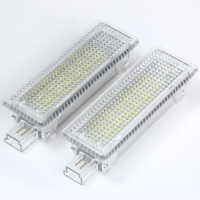 Car Auto Courtesy Door Lamp Vehicle External Light Suitable for BMW E81 E90 E60 E63 – 2pcs with SMD 3528 White 1.44W 18 LEDs