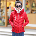 Female short coat 2017 new fall and winter clothes padded jacket influx of students casual fashion Slim small women parkas 7328