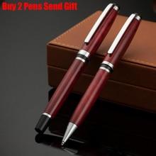 Free Shipping Classic Design Metal Ballpoint Pen Luxury Business Signature Writing Pen Buy 2 Pens Send Gift стоимость