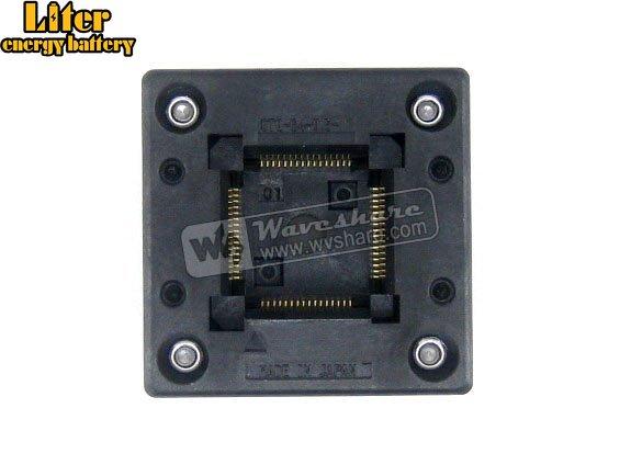 QFP64 TQFP64 LQFP64 PQFP64 OTQ-64-0.5-01 Enplas QFP IC Test Burn-In Socket 0.5mm Pitch