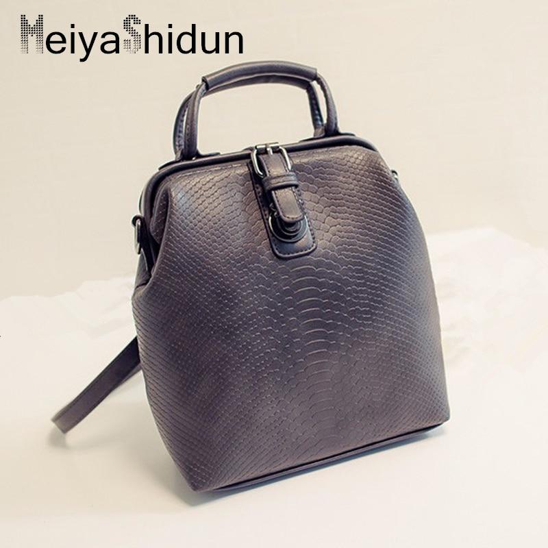 Meiyashidun крокодил Рюкзаки Для женщин сумка школьные сумки для девочек брендовые дизайнерские кожаные мини-рюкзак сумка Mochilas кошелек