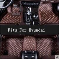 Автомобильные Пользовательские Коврики для ног 3D роскошные кожаные автомобильные коврики подходит hyundai Elantra MISTRA SONATA 2009 2018