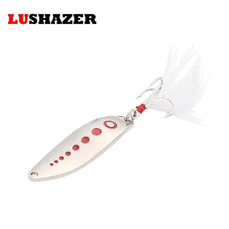 LUSHAZER fishing lure spoon hard lures 7g-20g silver gold spinner bait cheap fishing lures china carp fishing tackle lushazer fishing lure minnow bait 18g hard lures carp fishing iscas artificiais 2016 wobbler crankbait cheap sea fishing tackle