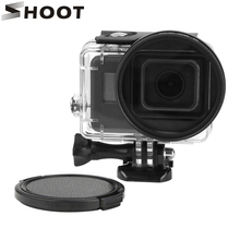 SHOOT 58mm UV filter with Lens Cover and Adapter for GoPro Hero 5 Black Waterproof Case For Go Pro Hero 5 Camera Accessories