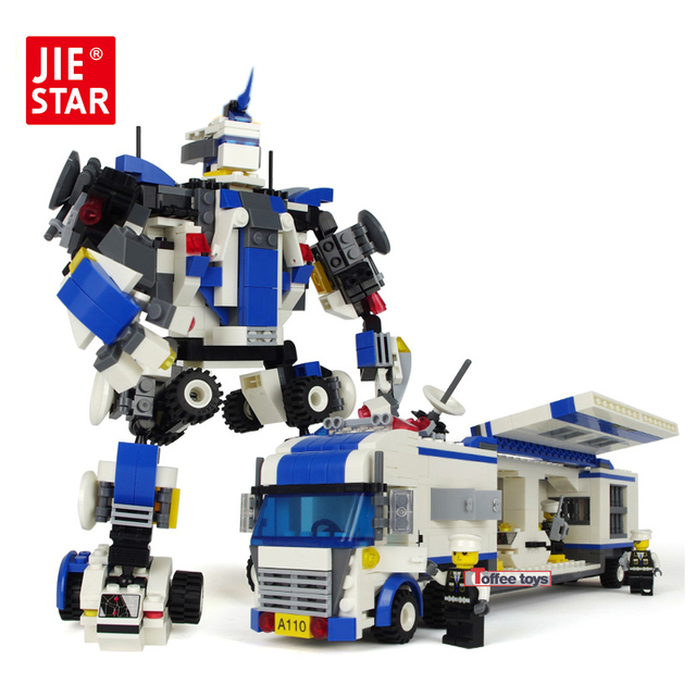 Police Toys For Boys : Jie star mobile police series building blocks compatible